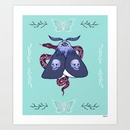 Ghostly Moth Art Print
