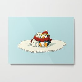 Penguin snowfriends Metal Print