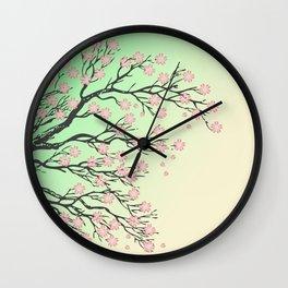 Sakura branch Wall Clock