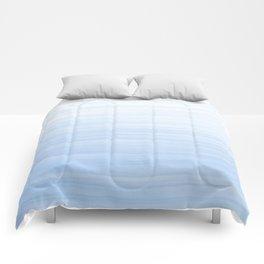 Pastel Blue Strokes Comforters