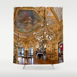 Newport Mansions, Rhode Island - Marble House - Grand Salon Shower Curtain