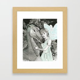 Dragon's Fairy Framed Art Print
