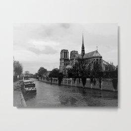 Notre Dame de Paris View from Seine River Paris Metal Print
