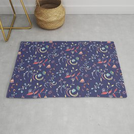Chintz Blue Rug