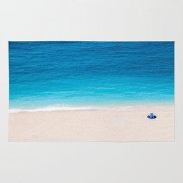 Alone On The Beach Rug