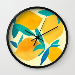 Mangoes - Tropical Fruit Illustration Wall Clock