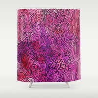 las vegas Shower Curtains featuring Las Vegas by Andrea Gingerich