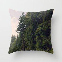 Joffree in Canadas Mountains Throw Pillow