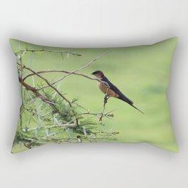 Swallow on Acacia Rectangular Pillow