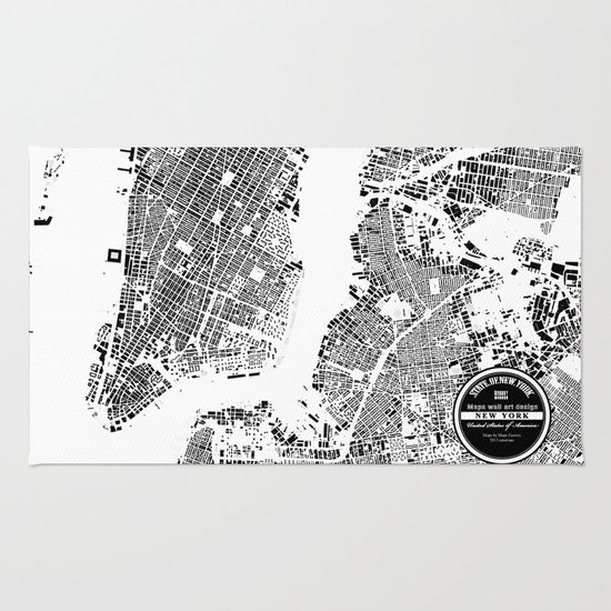 New York Map Rug