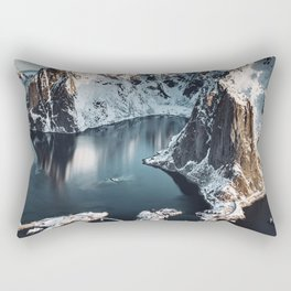 aerial view of the lofoten islands Rectangular Pillow
