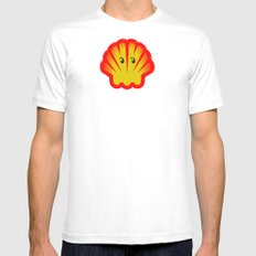 Look! There is a Ghost  in the Shell! White MEDIUM Mens Fitted Tee