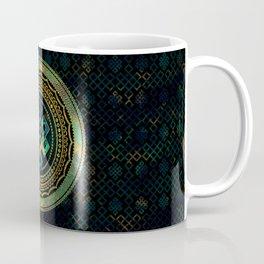Marble and Abalone Endless Knot  in Mandala Decorative Shape Coffee Mug