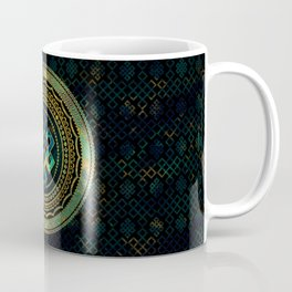 Marble and Abalone Endless Knot  in Mandala Decorative Shape Coffee Mug