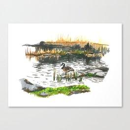 Facing water Canvas Print