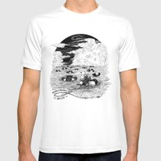 Freedom Of Movement Saves Lives MEDIUM Mens Fitted Tee White