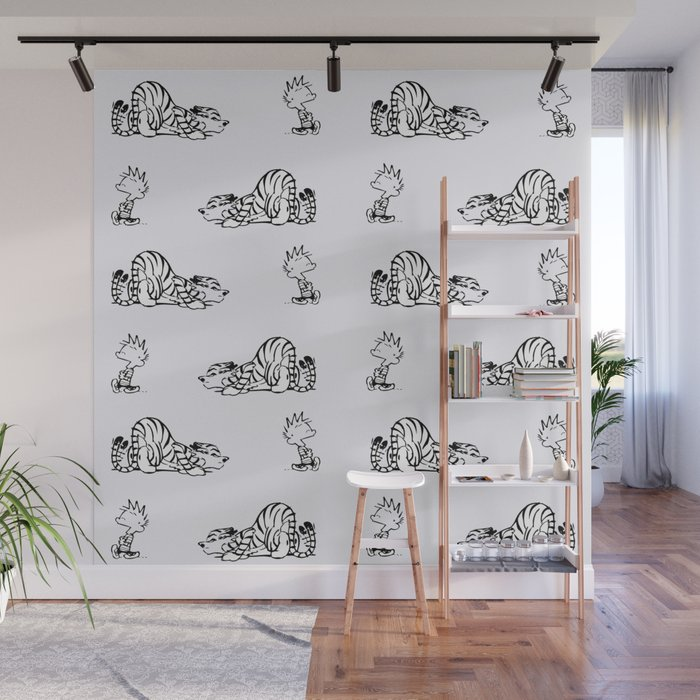 calvin and hobbes Wall Mural by febrian89 Society6