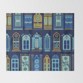 Moroccan Doors – Navy Palette Throw Blanket