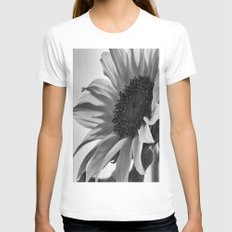 Sunflower Black & White White Womens Fitted Tee SMALL