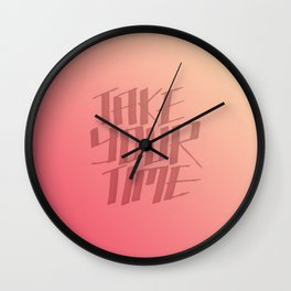 Take Your Time (Peach) Wall Clock