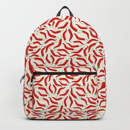 Hot red chili pepper pattern Backpack