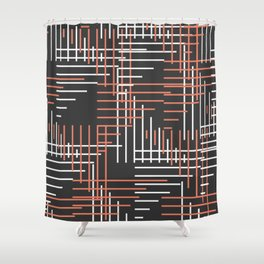 Line art convention Shower Curtain