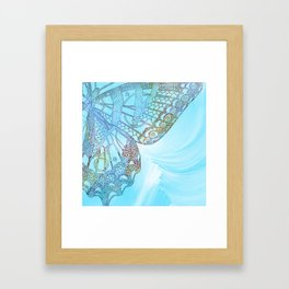 Colorful Abstract Butterfly Design Framed Art Print
