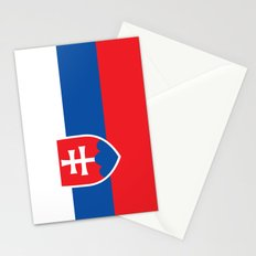 Slovakian Flag - High Quality Image Stationery Cards