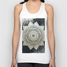 DEEP GOLD MANDALA Unisex Tank Top