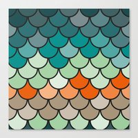 scales Canvas Prints featuring Scales by Pattern Design