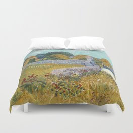 Vincent van Gogh Farmhouse in Provence 1888 Painting Duvet Cover