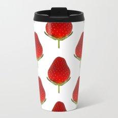 It's Strawberry Time Metal Travel Mug
