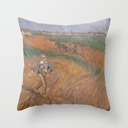 The sower - after van Gogh Throw Pillow