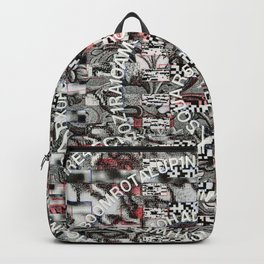 Creating Circumstances 4 Error 2 Fill the System with Meaning (P/D3 Glitch Collage Studies) Backpack