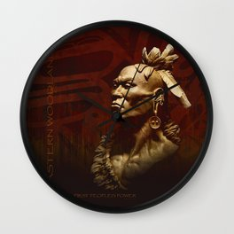 First Peoples Power - Woodland -red Wall Clock