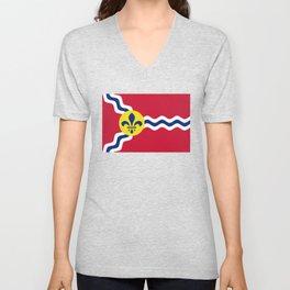 Flag of St. Louis, Missouri Unisex V-Neck