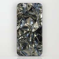 metallic iPhone & iPod Skins featuring Metallic by Shannice Wollcock