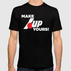 Make 1 Up Yours!  2X-LARGE Black Mens Fitted Tee