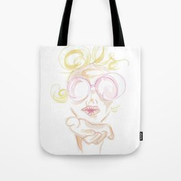 """kiss"" - retro summer bombshell Tote Bag"