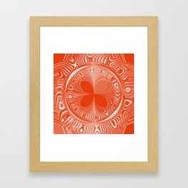 Terracotta Tile Framed Art Print