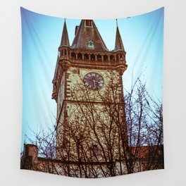 Prague Time Wall Tapestry