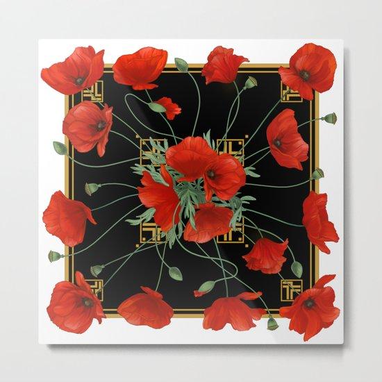 Poppy Stravaganza Metal Print