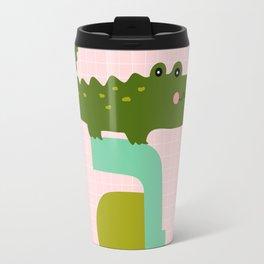 letter A - alligator - monogram - personalized for kids Travel Mug