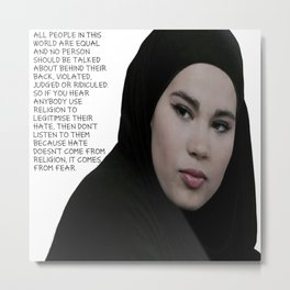 SKAM - Sana Bakkoush - All people in this world are equal Metal Print