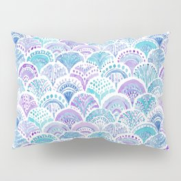 Mystical MERMAID DAYDREAMS Watercolor Scales Pillow Sham