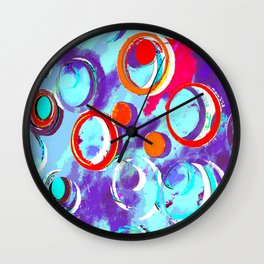 Circles of Many Colors Wall Clock