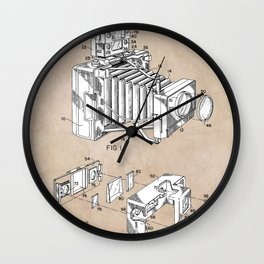 patent art 1966 Bing photographic camera accessory Wall Clock