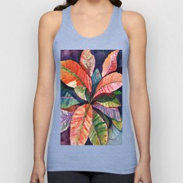 Colorful Tropical Leaves 1 Unisex Tank Top