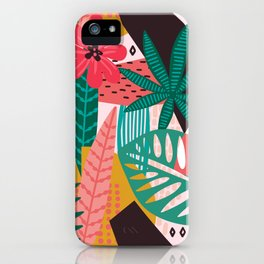 Matisse Inspired Pop Art Tropical Fun Jungle Pattern iPhone Case