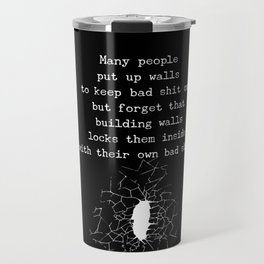 Putting Up Walls Travel Mug